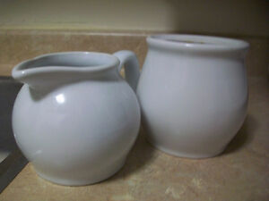 White china set and Easter bowl