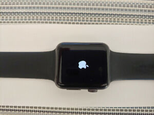 Apple Watch Series 1, 42 mm Space Grey with Black Band