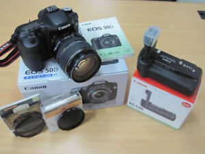 Canon full package DSLR + 3 lens + grip + filters + spares +++