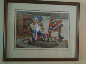 """John Newby autographed and framed print """"A New Season"""" London Ontario image 2"""