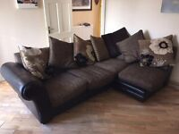Corner sofa and chair for sale
