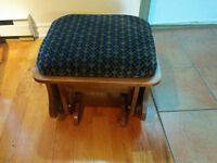 a Vintage Rocking Footstool - Real Heavy Wood