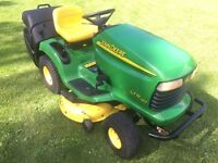 JOHN DEERE LTR180 RIDE ON LAWN MOWER GARDEN TRACTOR & GRASS COLLECTOR