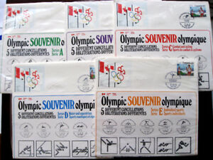 1976 Montreal Olympic Souvenir 5 Individual Sport Series Issue