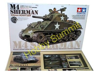 Tamiya 1/16 R/C Full-Option US Army M4 SHERMAN TANK  Unassembled Kit  #56014