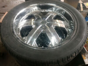 4x 22 inch very clean aluminum mags tires truck, Dodge Ford