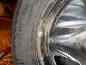 Winter tires on rims for sale 225/60R17