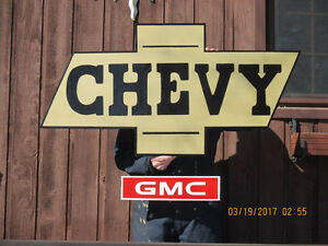 VERY LARGE CHEVY/GMC SIGN.