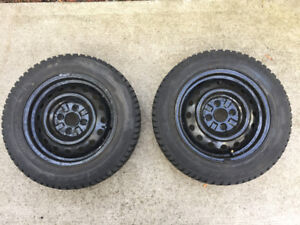 Two Winter Tires On Rims 175/65/14