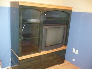meuble bibliotèque et télé