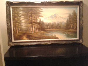 Oil Painted Scenic Framed Picture