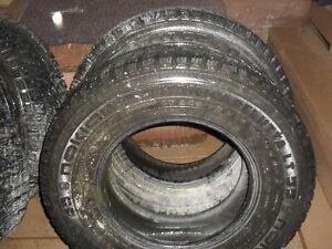 """4 x 245 75 r16"""" studded winter tires"""