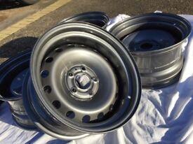 Vauxhall vivaro banded steel wheels