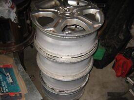 """Alloy wheels 17"""" seat vw etc."""