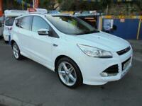 2014 14 FORD KUGA 2.0 TDCI TITANIUM X 163 4WD IN WHITE # X SPORT UPGRADE LOW MLS