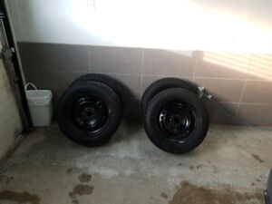 """16"""" winter tires and steel rims"""