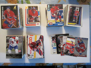 Montreal Canadiens Hockey Card lot of 600 cards 90s-00's