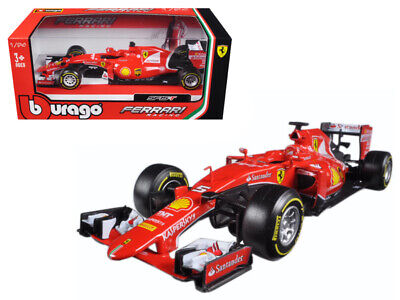 Bburago 1:24 Ferrari F1 Racing Formula SF15T Sebastian Vettel #5 Model Red 26801
