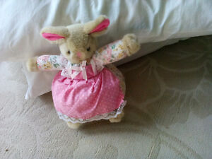 Stuffed Bunny with apron