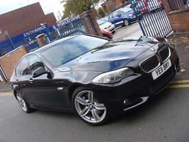 2011 11 PLATE BMW 525d 3.0TD M Sport 4dr Automatic in Carbon Black