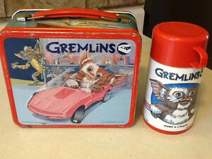 1984 GREMLINS METAL LUNCH BOX WITH THERMOS London Ontario image 1