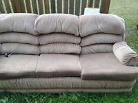 Couch for sale. Soft fabric.