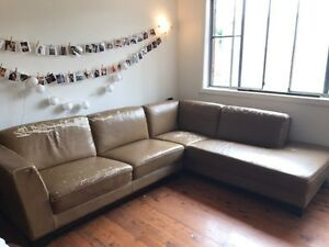 Corner Sofa / Couch in Brown leather - sectional modular Northmead Parramatta Area Preview