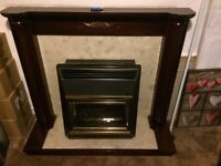 Marble fireplace with balanced flue