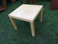Small light wooden table