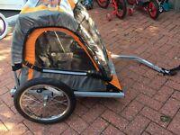 Double bike trailer