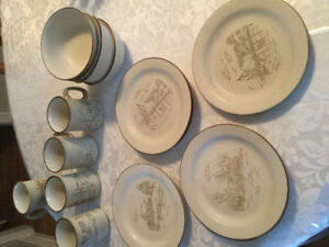 Collection Manoir stoneware dishes