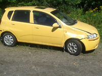 2004 Chevrolet Aveo four door with sunroof Automatic