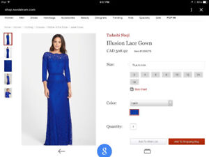 Gown  perfect condition