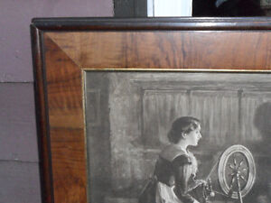 trade this large antique 1910 framed print