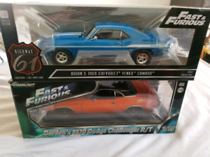 2 Fast 2 Furious YENKO Camaro and Challenger 1/18 diecast model