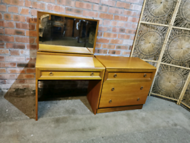 Vintage Beithcraft dressing table and chest of drawers