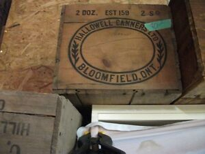 Old wood boxes from Prince Edward cty Canners Belleville Belleville Area image 2