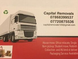 24hrs availble man and van hire house office and home moving and Rubbish removals services in London