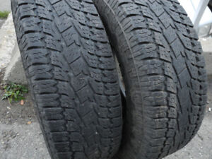 P265/75R16 Aggressive Pair of Toyo A/T Open Country Tires!