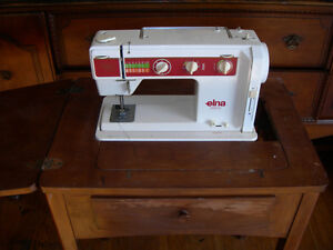 Elna  500  Electronic  Sewing  Machine With Table& Chair