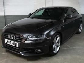 June 2008 '08' AUDI A4 1.8 TFSI 160 BHP S Line Saloon Htd.Leather/Suede * XENONs