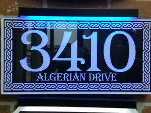 LED HOUSE NUMBER HOME ADDRESS SIGN- GENTRY STYLE $99.99