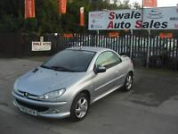 2005 PEUGEOT 206 ALLURE 1.6L CONVERTIBLE WITH ONLY 77,257 MILES