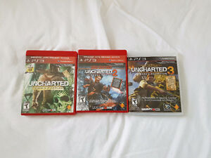Playstation PS3 Uncharted 1, 2, 3