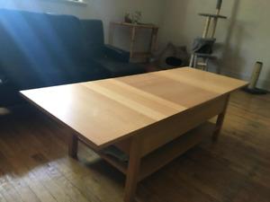 MAGNIFIQUE TABLE BASSE, CONVERTIBLE AVEC RANGEMENT