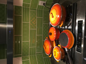 Vintage cookware (one is Le Creuset)