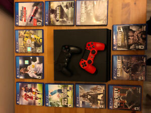 500 gb PS4 and games
