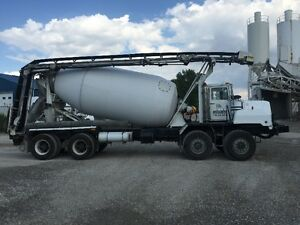 1995 mack DMM688EX Concrete Mixer c/w Conveyor & 9m3 Drum