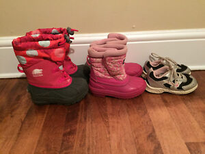 Size 8 Toddler Girls Boots and Sneakers