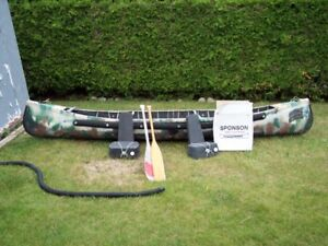 sportspal canoe and 2hp johnson outboard
